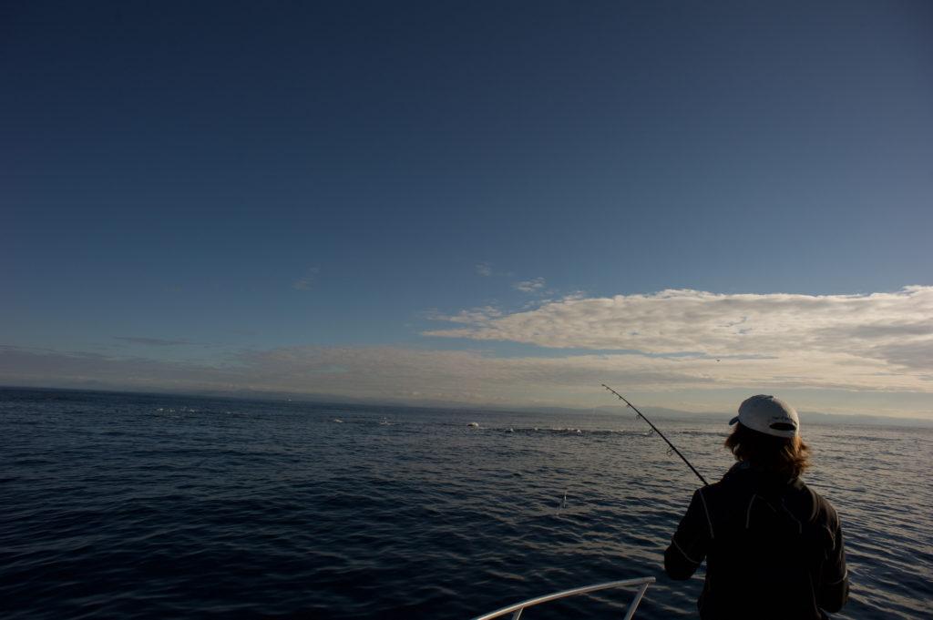 paysage de pêche en mer