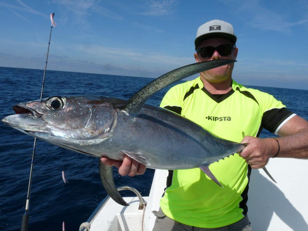 comment pêcher le thon blanc germon à la traîne