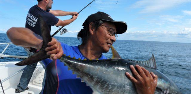 pêche du thon rouge au leurr