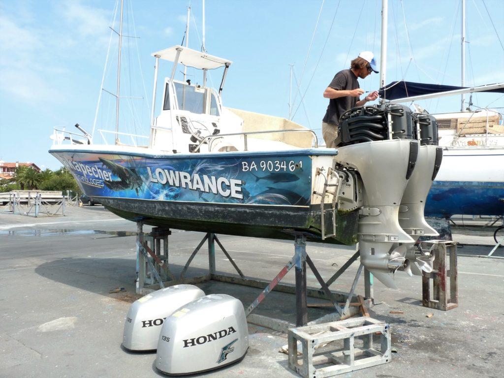 entretien moteur avant pêche aux thons