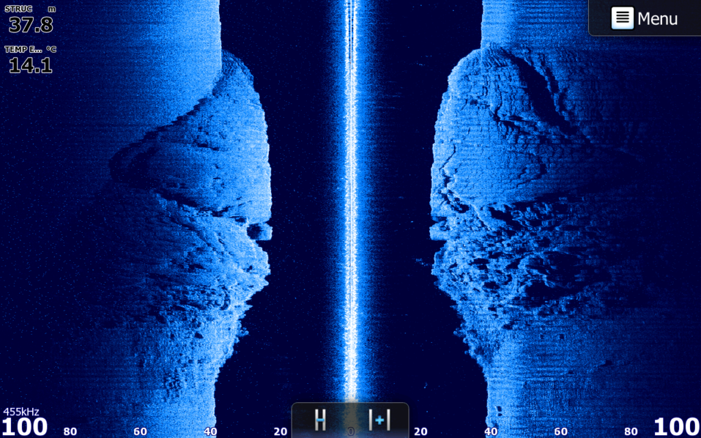 éboulis rocheux au structure scan